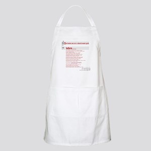 Church Music Geek BBQ Apron