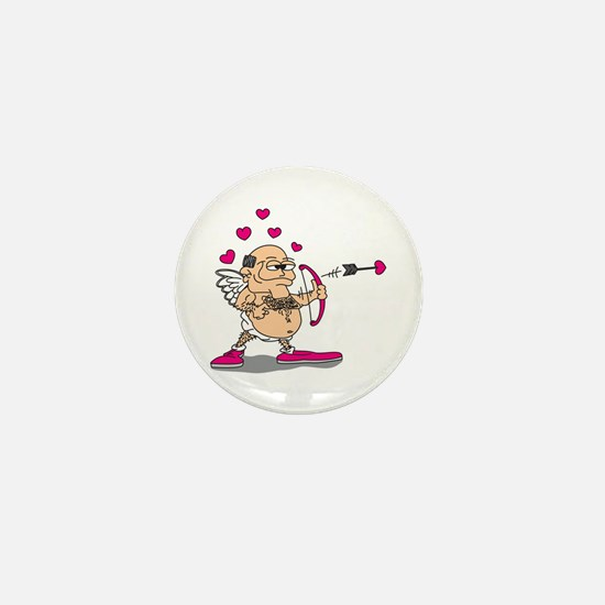 Dirty Old Man Cupid Mini Button