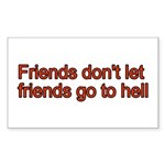 Christian Friend Rectangle Sticker