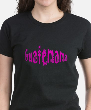 Hot Pink Guatemama Women's Dark T-Shirt