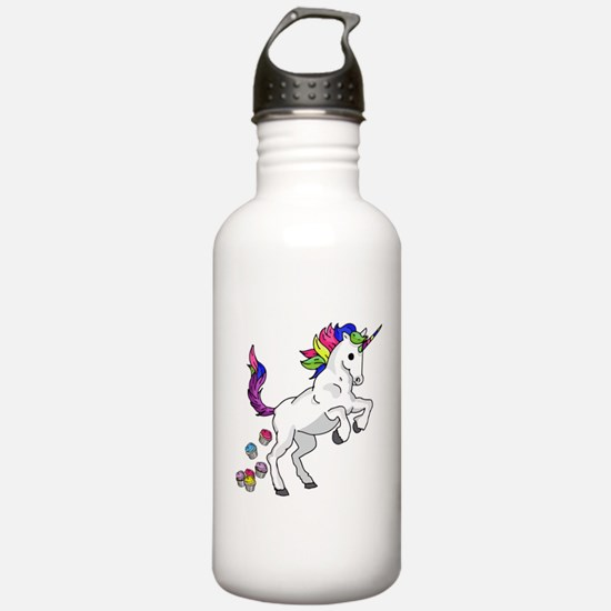 Unicorn Cupcakes Water Bottle