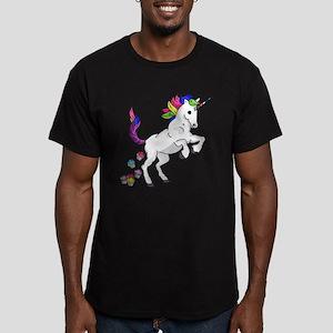 Unicorn Cupcakes Men's Fitted T-Shirt (dark)