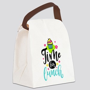 Time For Lunch Canvas Lunch Bag