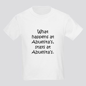 What happens at Abuelita's Kids Light T-Shirt