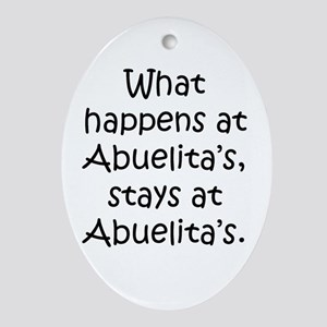 What happens at Abuelita's Oval Ornament