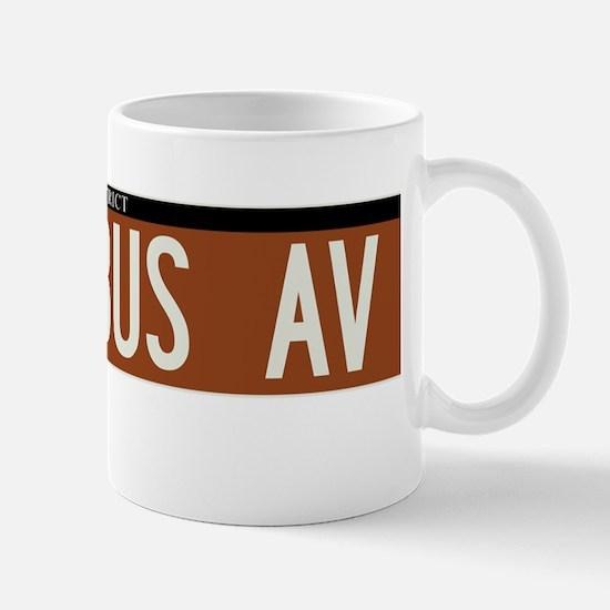 Columbus Avenue in NY Mug