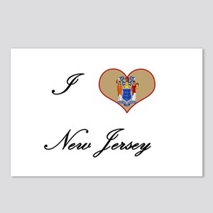 I Love (Heart) New Jersey Postcards (Package of 8)