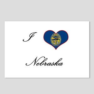 I Love (Heart) Nebraska Postcards (Package of 8)