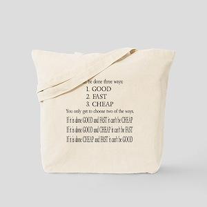 Three Ways Tote Bag