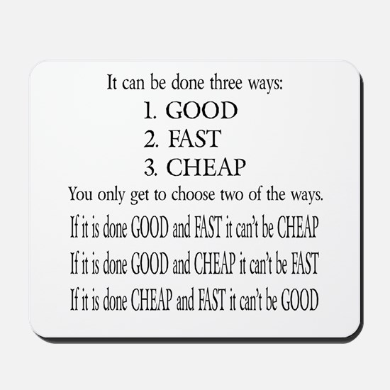 Three Ways Mousepad
