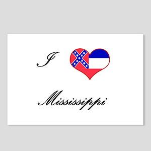 I Love (Heart) Mississippi Postcards (Package of 8