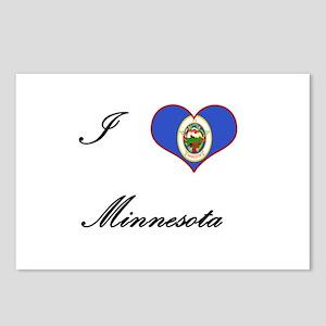 I Love (Heart) Minnesota Postcards (Package of 8)