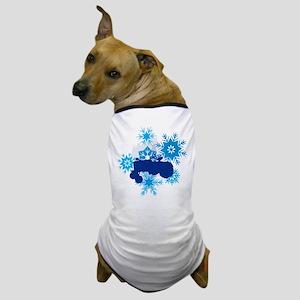 Snowflake Tractor Holiday Dog T-Shirt