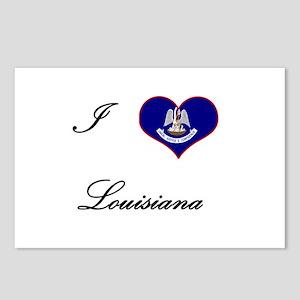 I Love (Heart) Louisiana Postcards (Package of 8)