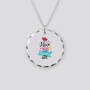 To The Moon & Back Necklace Circle Charm
