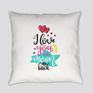 To The Moon & Back Everyday Pillow
