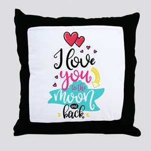 To The Moon & Back Throw Pillow
