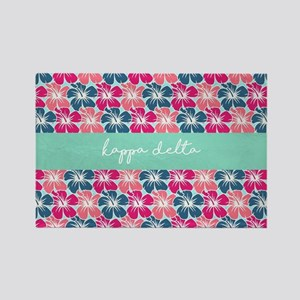 Kappa Delta Flowers Rectangle Magnet
