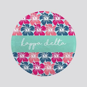 "Kappa Delta Flowers 3.5"" Button"