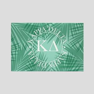 Kappa Delta Leaves Rectangle Magnet