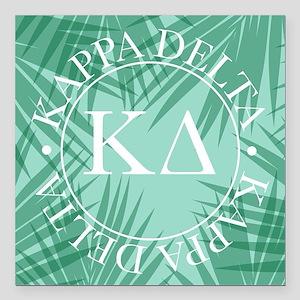 "Kappa Delta Leaves Square Car Magnet 3"" x 3"""