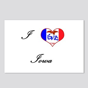 I Love (Heart) Iowa Postcards (Package of 8)