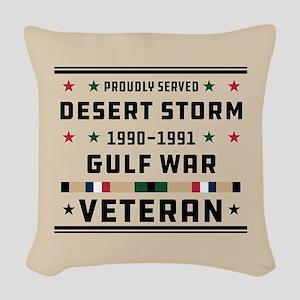 Proudly Served Gulf War Woven Throw Pillow