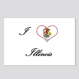 I Love (Heart) Illinois Postcards (Package of 8)