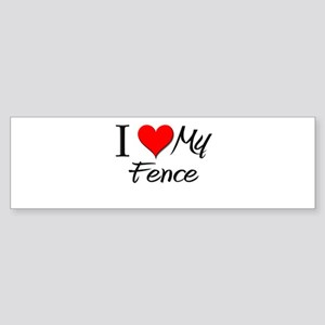 I Heart My Fence Bumper Sticker