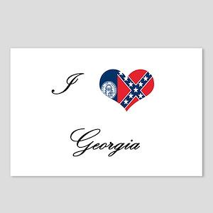 I Love (Heart) Georgia Postcards (Package of 8)