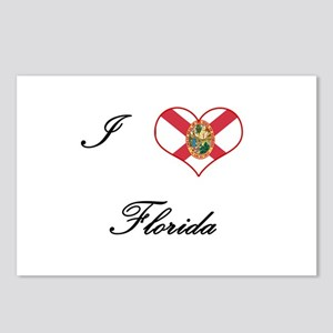 I Love (Heart) Florida Postcards (Package of 8)