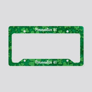 PERSONALIZED Shamrock Pattern License Plate Holder