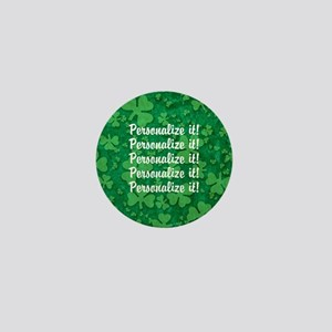 PERSONALIZED Shamrock Pattern Mini Button