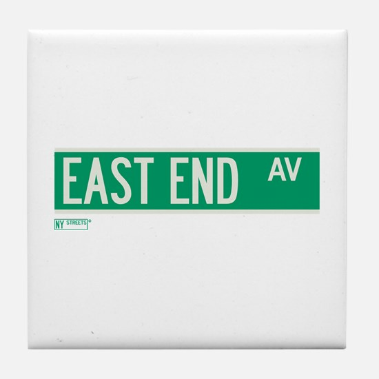 East End Avenue in NY Tile Coaster