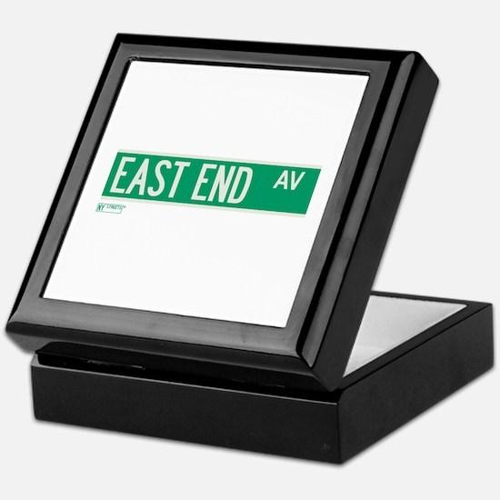 East End Avenue in NY Keepsake Box