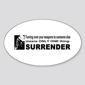 Anti Gun Control Oval Sticker
