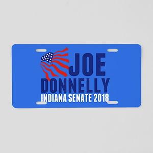 Joe Donnelly 2018 Aluminum License Plate