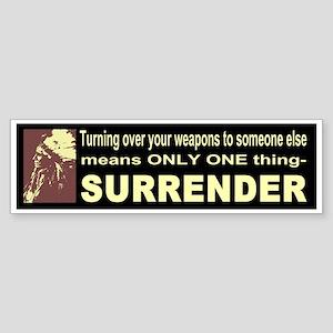 Anti-Gun Control Bumper Sticker
