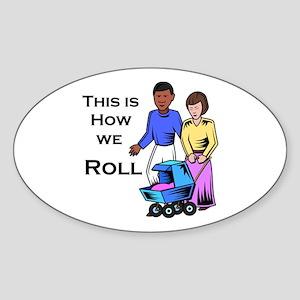 Roll 1 Oval Sticker