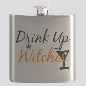 Drink Up Witches Flask