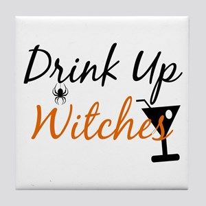 Drink Up Witches Tile Coaster