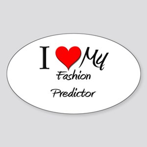 I Heart My Fashion Predictor Oval Sticker