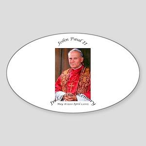 John Paul II Oval Sticker