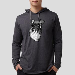 MIniature Schnauzer Mens Hooded Shirt