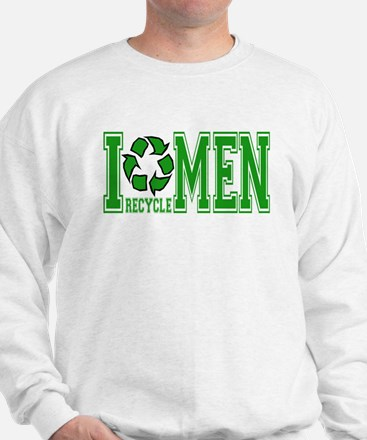 I Recycle Men Sweatshirt