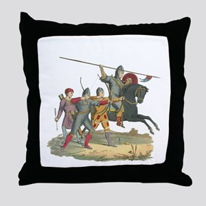 Norman Knight & Archers Throw Pillow