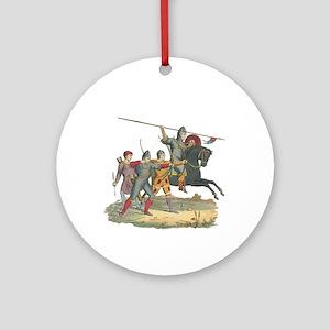 Norman Knight & Archers Ornament (Round)