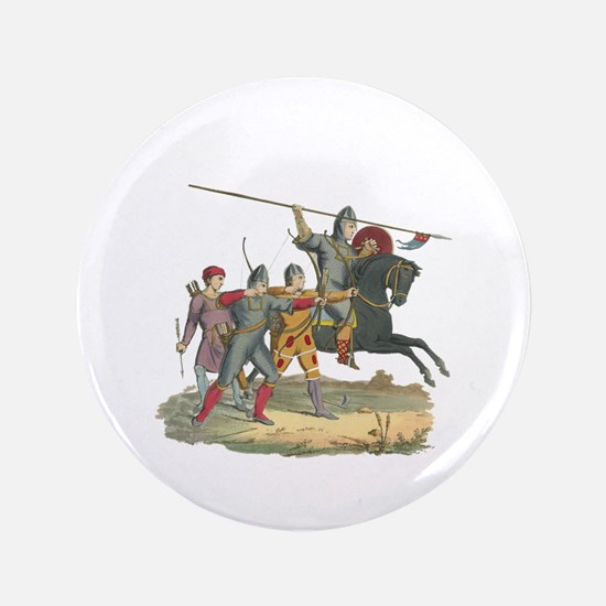 "Norman Knight & Archers 3.5"" Button"