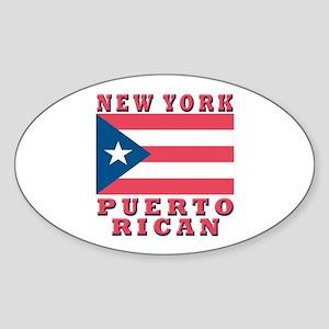 New York Puerto Rican Oval Sticker