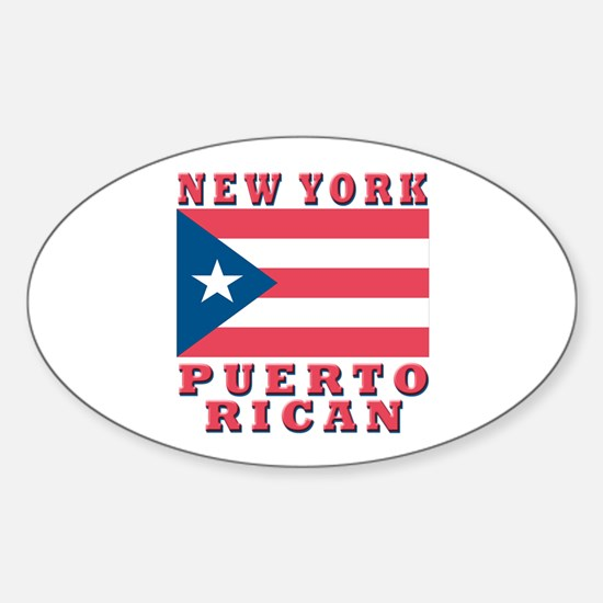 New York Puerto Rican Oval Decal